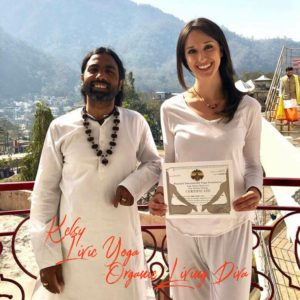 Kelsy's Yoga Certification in India
